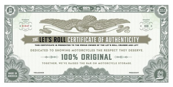 the lets roll certificate of authenticity